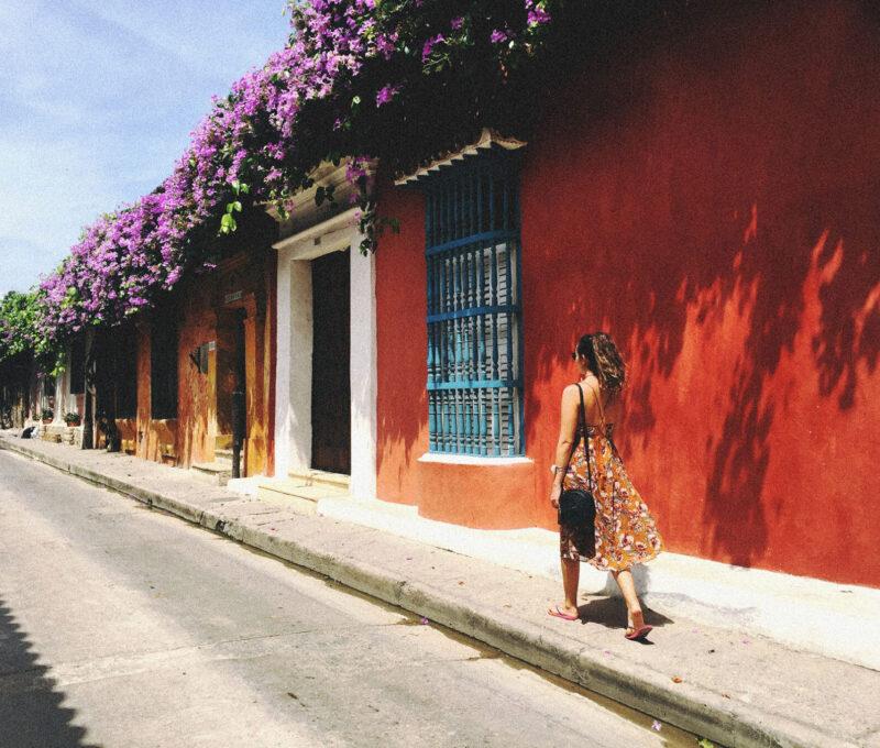 Ruas lindas de Cartagena