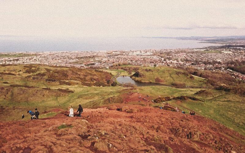 Vista do topo do Arthur's seat