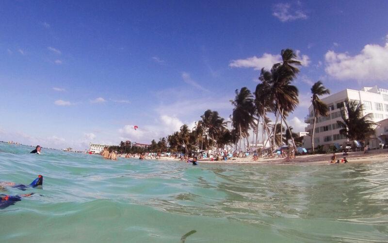 Praia central de San Andrés