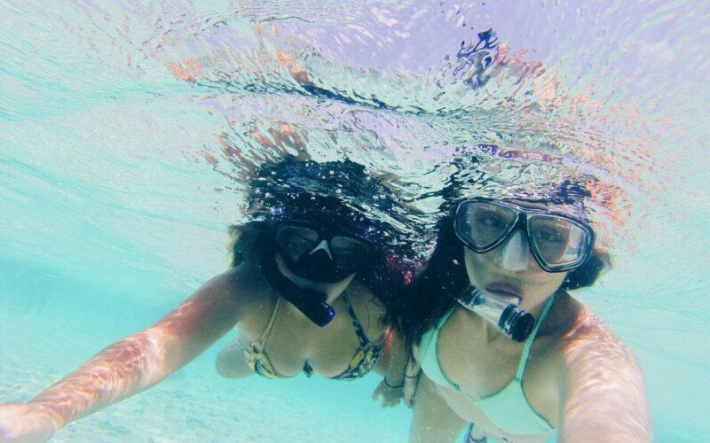 Mergulho no aquário natural
