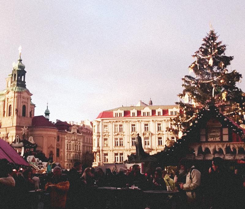 Praça com Christmas Market