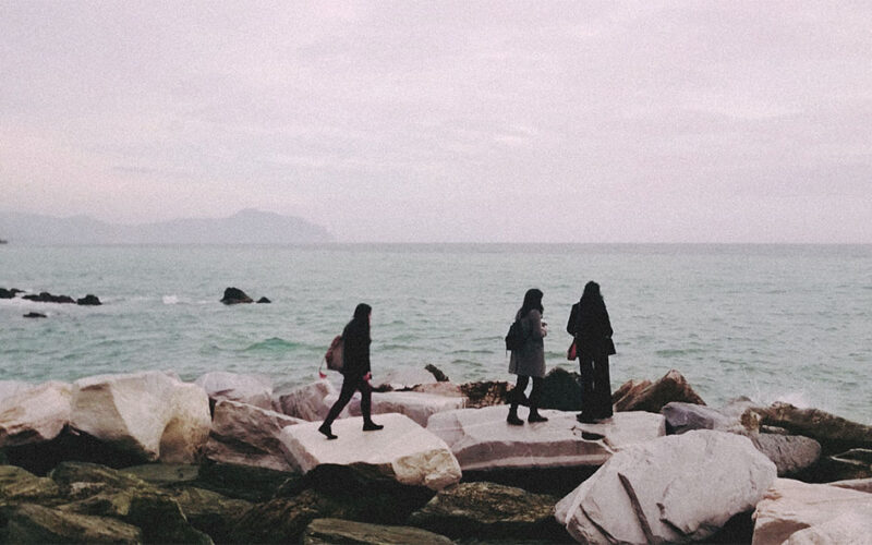 Praia em Boccadasse