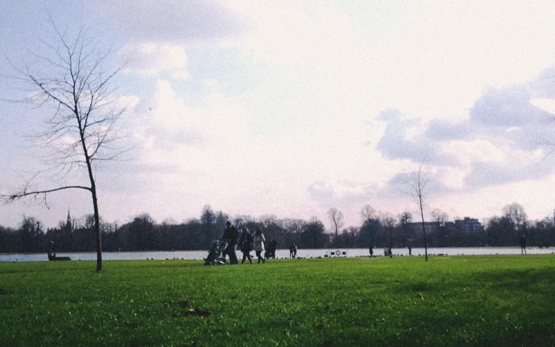 Hyde Park perto de Marble Arch