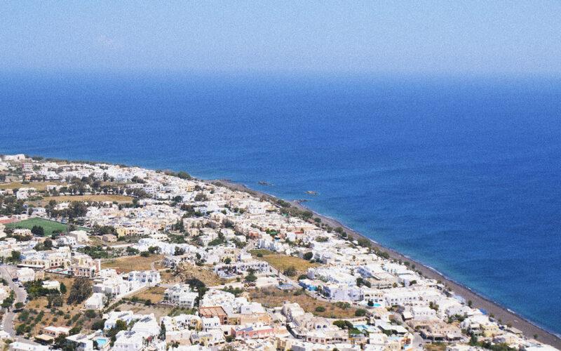 Santorini vista de cima