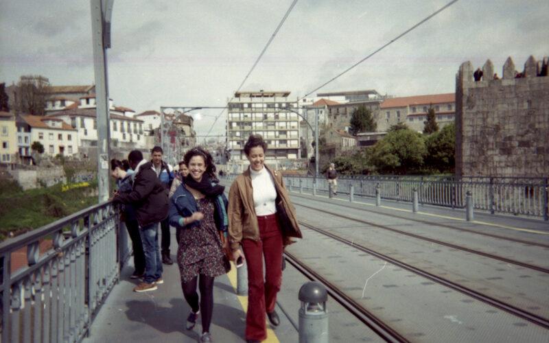 em cima da ponte