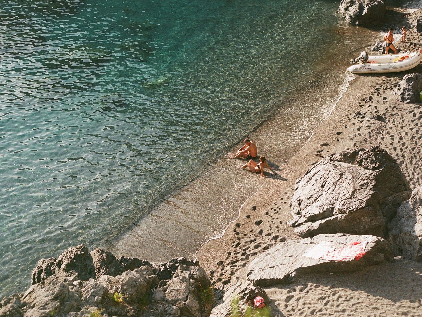 Mini praia próximo ao Arco Magno