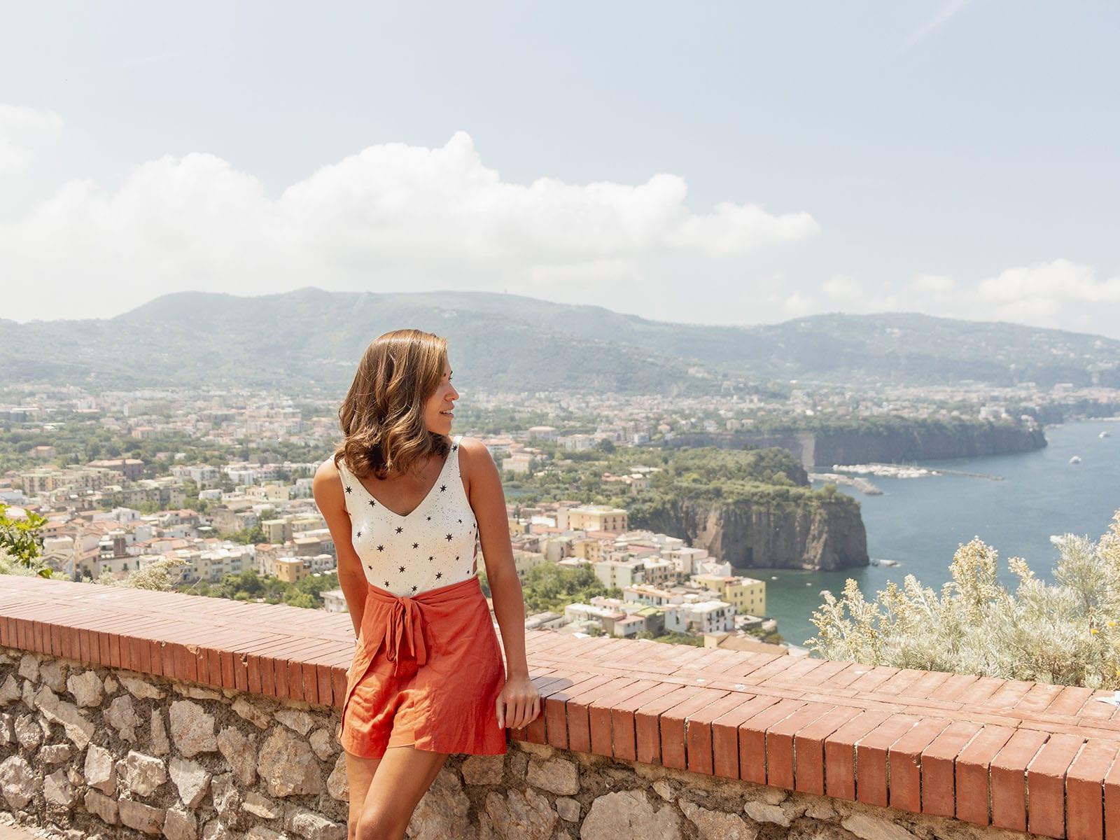 Vista da estrada na Costa Amalfitana
