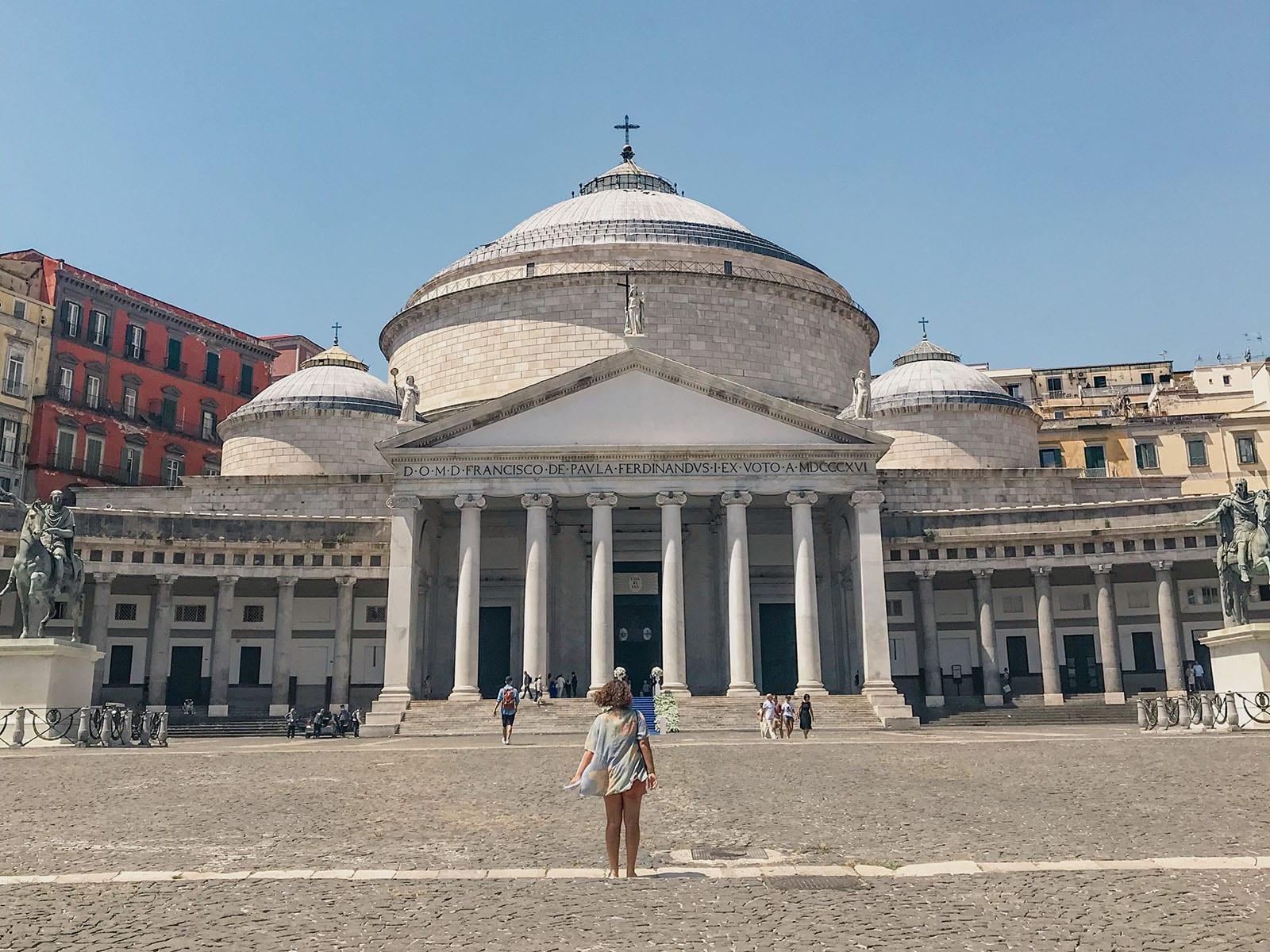 Piazza del Plebiscito em Nápoles