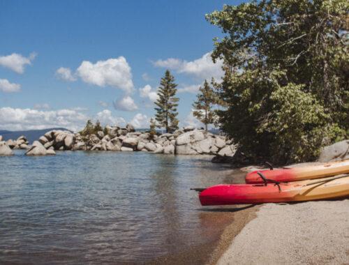Chimney Beach lake tahow kayak